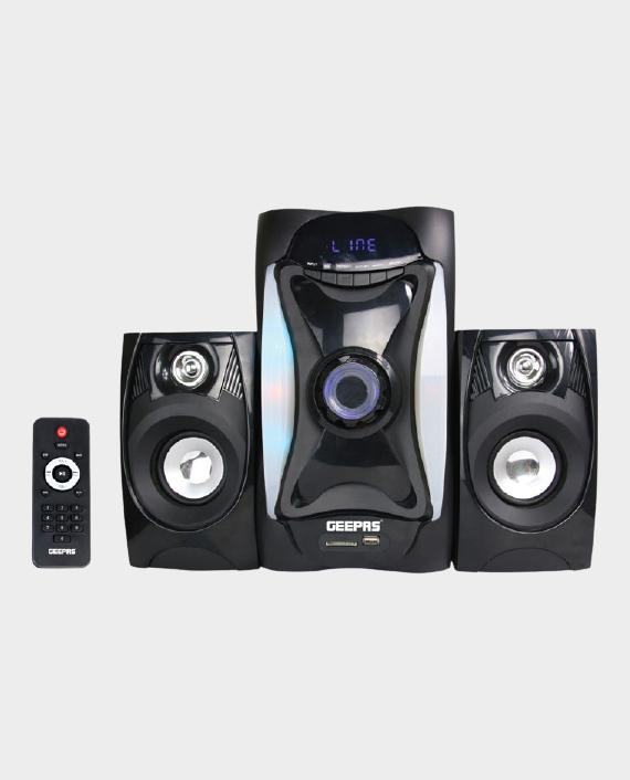 Geepas GMS8597 2.1 Multimedia Speaker System with Bluetooth Black in Qatar