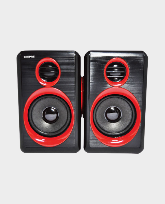 Geepas GMS8802 2.0 Computer Speaker Black/Red in Qatar