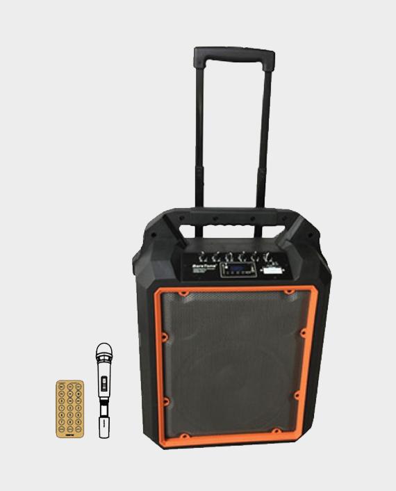 Geepas GMS8809 Portable & Rechargeable Trolley Speaker Black & Orange in Qatar