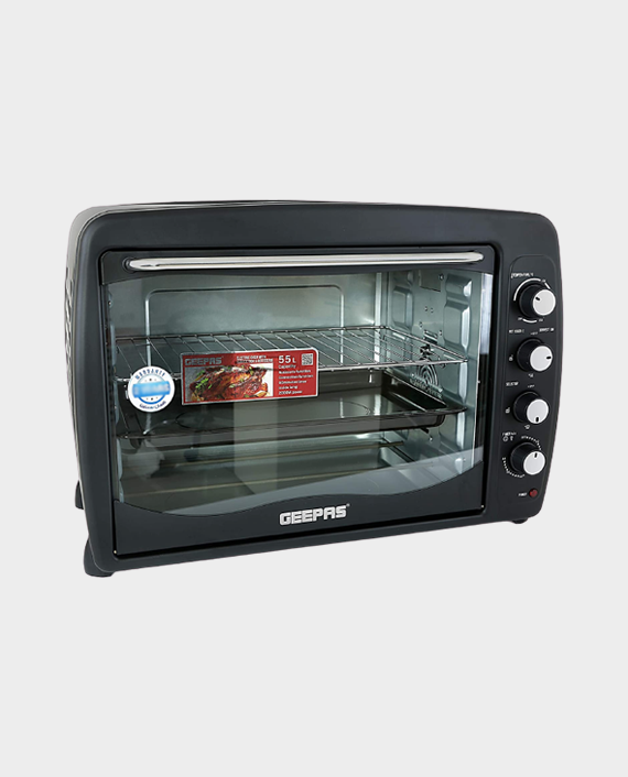 Geepas GO4401N 55 Litre Electric Oven with Rotisserie in Qatar