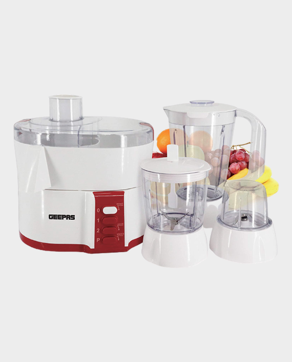 Geepas GSB9890 4 in 1 Food Processor with Safety Lock in Qatar