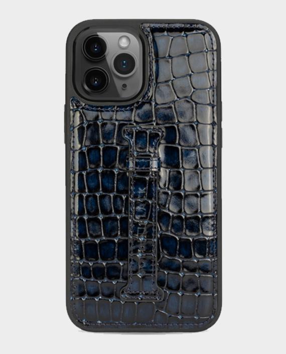 Gold Black iPhone 12/12 Pro Finger Holder Case Milano Blue in Qatar
