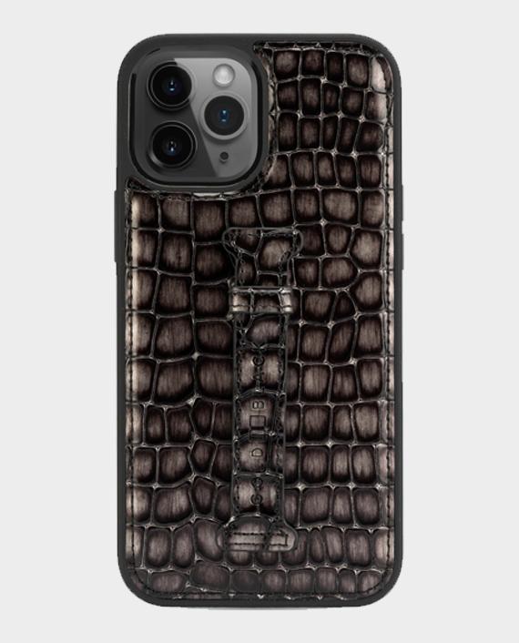 Gold Black iPhone 12/12 Pro Finger Holder Case Milano Grey in Qatar