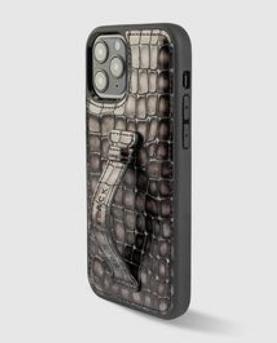 Gold Black iPhone 12/12 Pro Finger Holder Case
