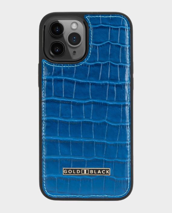 Gold Black iPhone 12/12 Pro Slim Case Croco Blue in Qatar