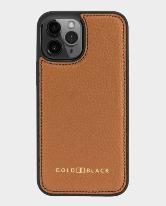 Gold Black iPhone 12/12 Pro Slim Case Nappa Brown