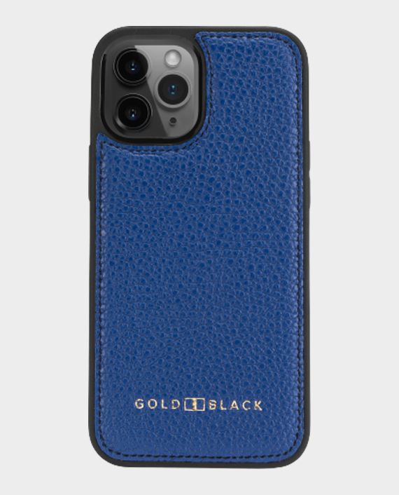 Gold Black iPhone 12-12 Pro Slim Case Nappa Blue in Qatar
