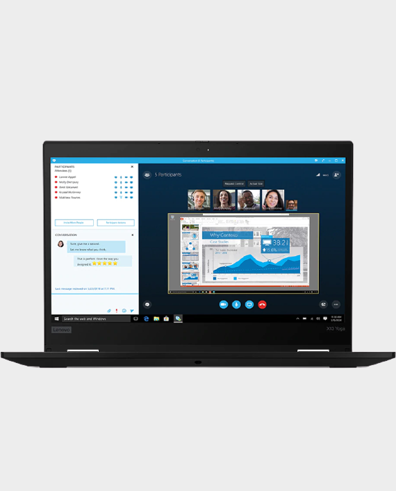Lenovo ThinkPad X13 Yoga / 20SX000GAD / i7-10510U / 16GB Ram / 512GB SSD / Intel HD Graphics / 13.3 Inch FHD IPS / Windows 10 Pro - Black in Qatar