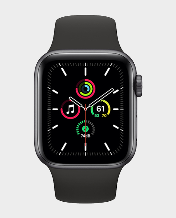 Apple Watch SE MYD2A GPS 44mm Space Gray Aluminum Case With Black Sport Band in Qatar