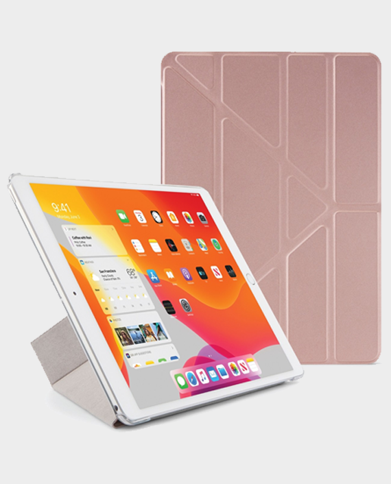 Pipetto iPad 10.2 Inch Origami Case PC 2019 Rose Gold in Qatar