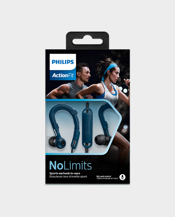 Philips ActionFit SHQ3405BL00 Sports Headphones with Mic