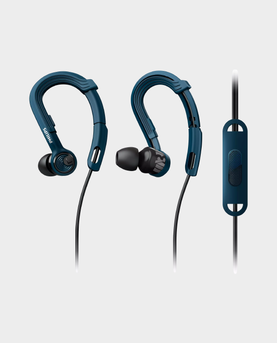 Philips ActionFit SHQ3405BL/00 Sports Headphones with Mic in Qatar