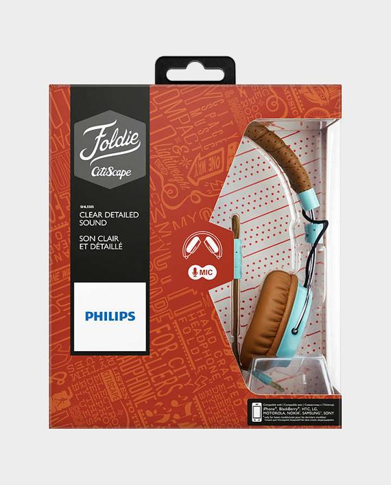 Philips SHL5505GB00 Foldie Headband Headphones With Mic
