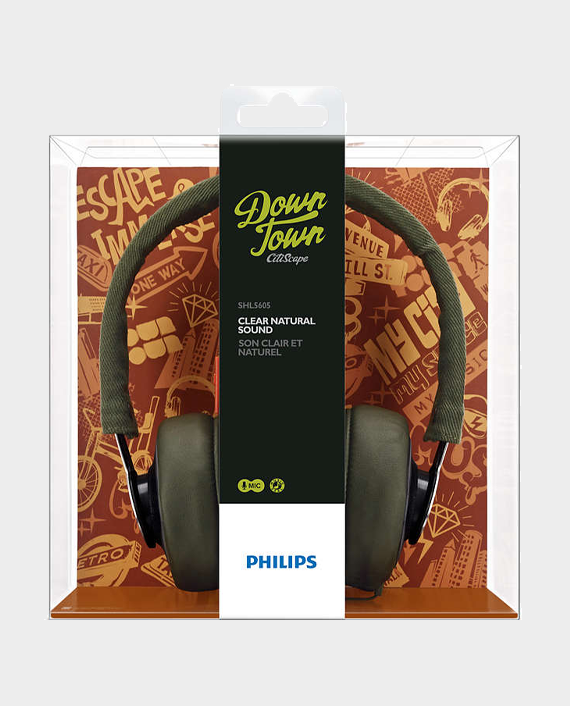 Philips SHL5605GN10 CitiScape Downtown Headband Headphones with Mic