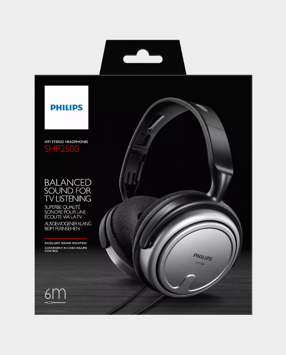 Philips SHP250010 Over-Ear Indoor Corded Headphone