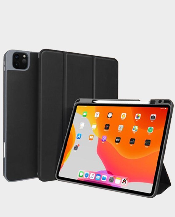Green Premium Leather Case Combo With Pen For Apple Ipad Pro 12.9'' 2020 Black in Qatar