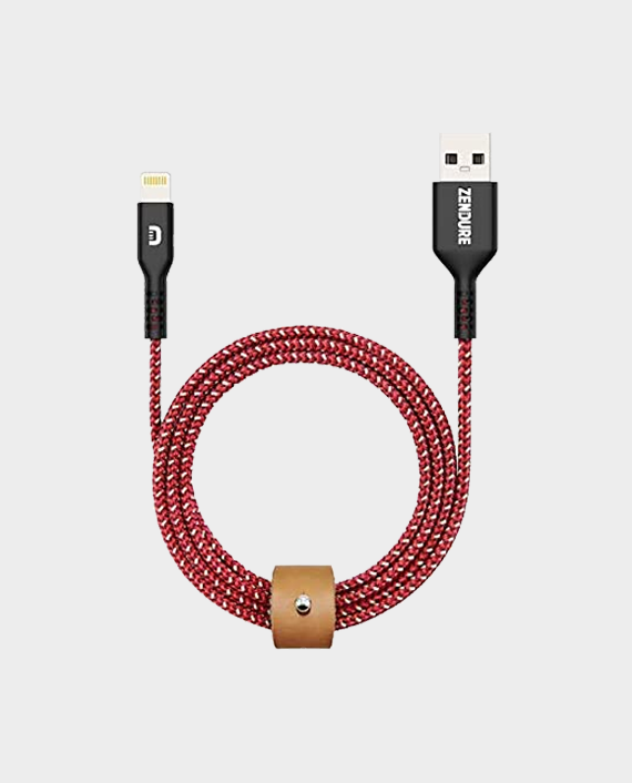 Zendure Super Cord Charge/Sync USB Lightning Cable 100cm Red in Qatar
