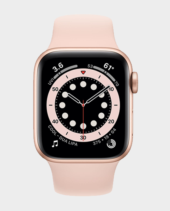 Apple Watch Series 6 M06N3A 40mm GPS + Cellular Gold Aluminum Case with Pink Sand Sport Band in Qatar