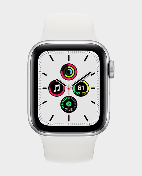 Apple Watch SE MYDM2A GPS 40mm Silver Aluminum Case with White Sport Band in Qatar