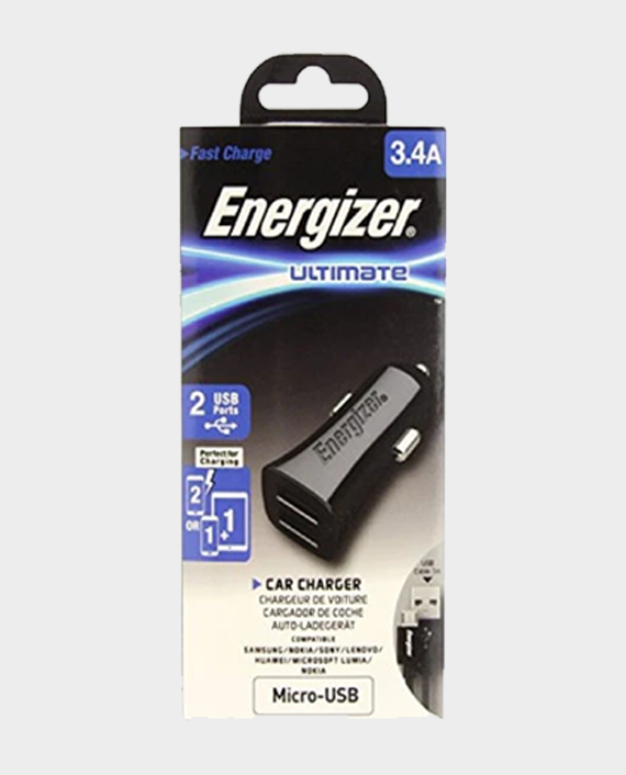 Energizer Car Charger 3.4A With Micro Cable