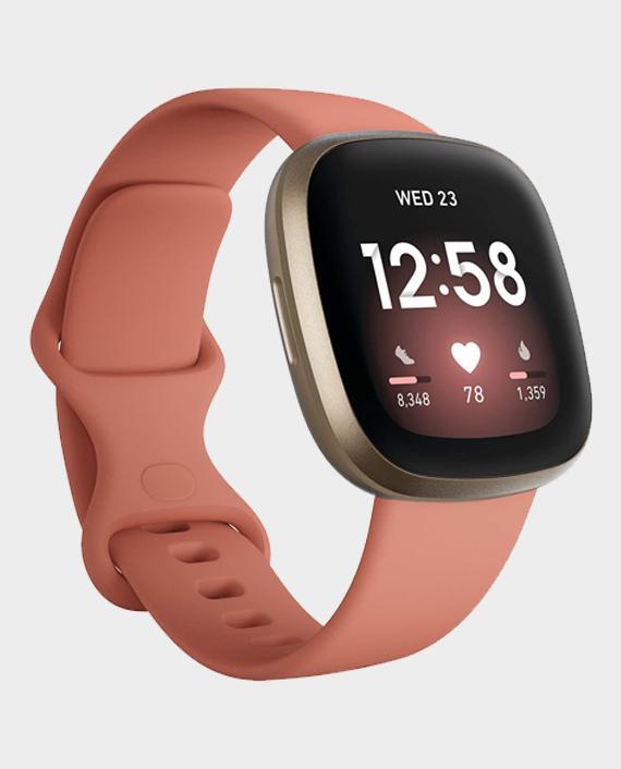 Fitbit Versa 3 Smartwatch GPS - Midnight Pink/Gold in Qatar