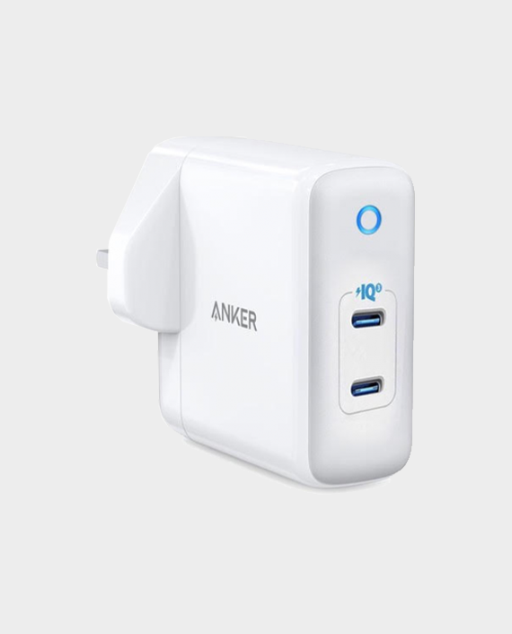 Anker Power Port III Duo High-Speed 36W 2-Port Wall Charger With USB-C Power IQ 3.0 White in Qatar