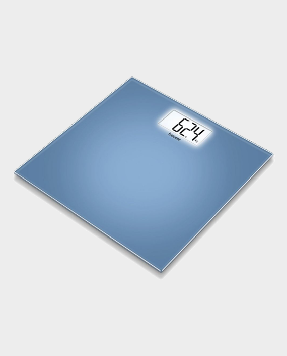 Beurer GS208 Glass Weighing Scale Blue in Qatar