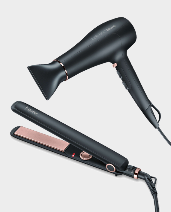 Beurer HS 30 Hair Straightner + Beurer HC 50 Hair Dryer in Qatar