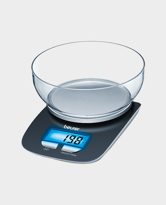 Beurer KS 25 Kitchen Scale with Blue Backlit Display in Qatar