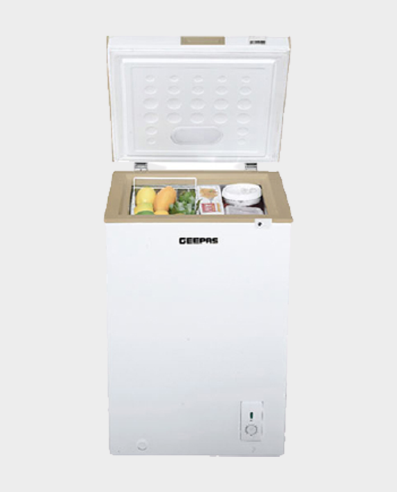 Geepas GCF1206WAH 120 Litre Chest Freezer