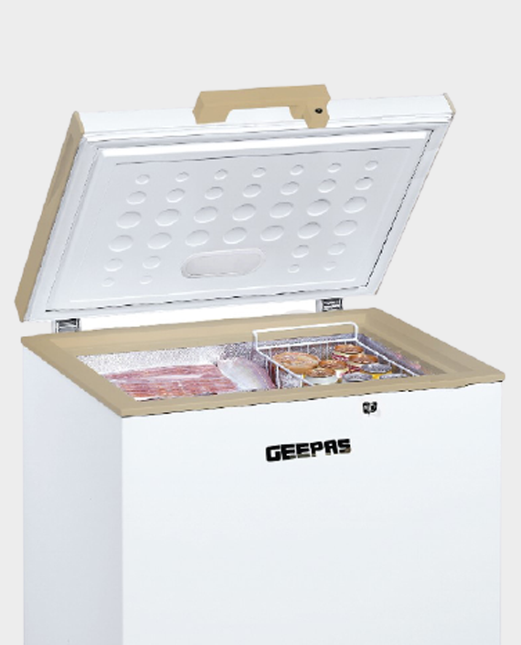 Geepas GCF1706WAH 170 Litre Chest Freezer