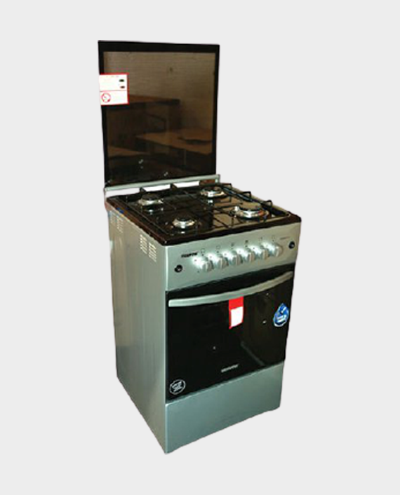Geepas GCR5057NMST 4 Burner Freestanding Gas Cooking Range with Grill & Oven in Qatar
