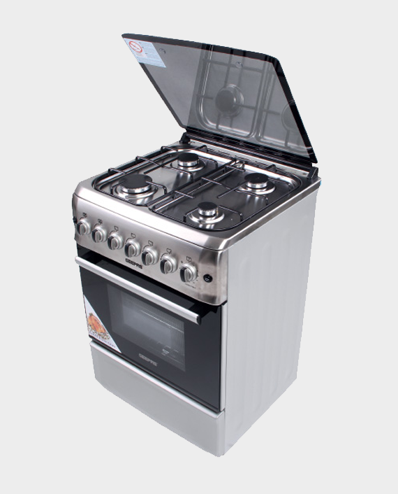 Geepas GCR6057 4 Burner Freestanding Gas Cooking Range with Safety Grill & Rotisserie in Qatar