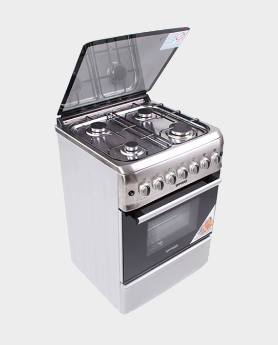Geepas GCR6057 4 Burner Freestanding Gas Cooking Range with Safety Grill & Rotisserie