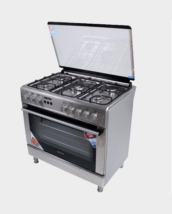 Geepas GCR9051 90x60 cm Ceramic Plate Free Standing Cooking Range in Qatar
