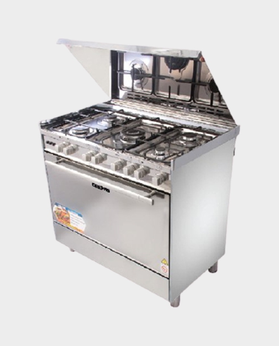 Geepas GCR9061FPSRC 5 Burner Freestanding Gas Cooking Range with Full Safety in Qatar