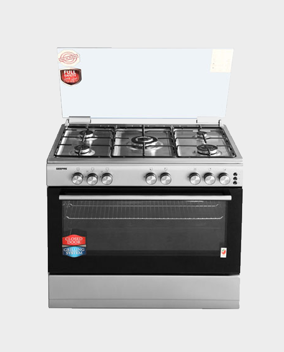 Geepas GCR9063NST 90x60 Cooking Range Cook Bake & Grill in Qatar