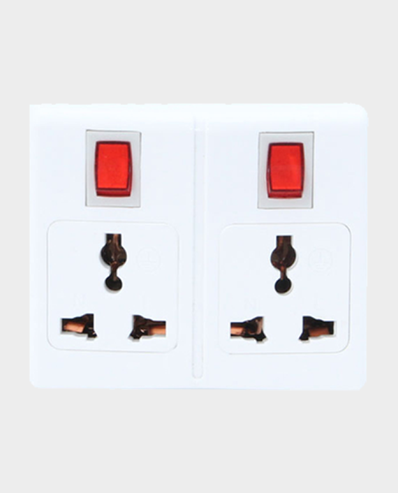 Geepas GES4051 2 Outlet High Quality Adapter with 2 Switch in Qatar