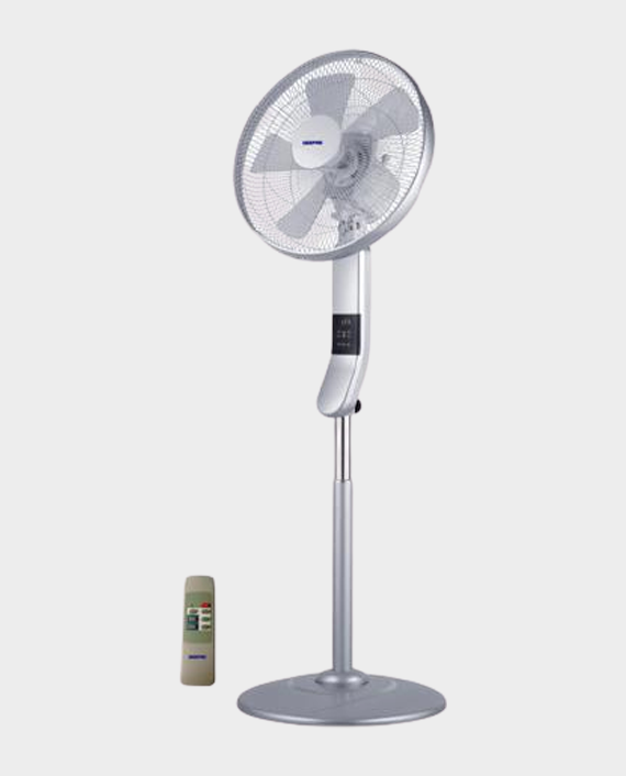 Geepas GF9466 16-inch Multcolor LED Display Stand Fan with Remote in Qatar