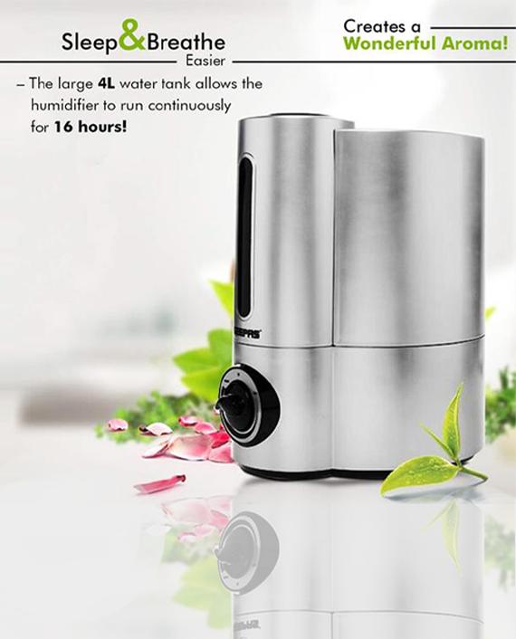 Geepas GUH63011UK Ultra Sonic Humidifier with Double Nozzle