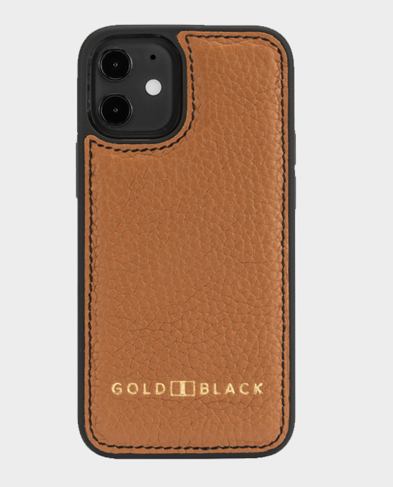 Gold Black iPhone 12 Mini Slim Case Nappa Brown in Qatar