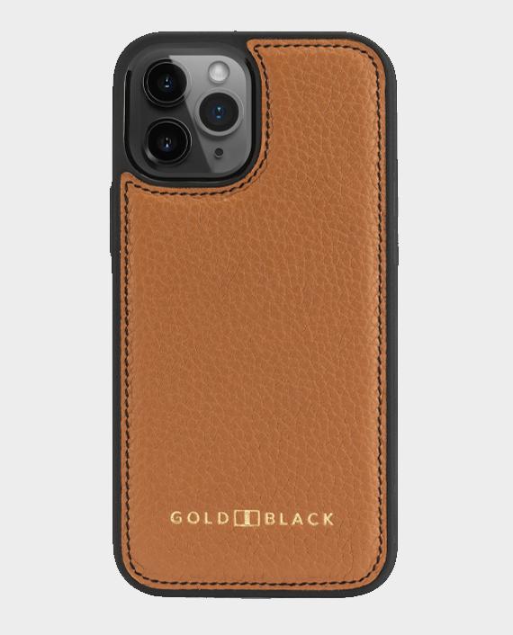 Gold Black iPhone 12 Pro Max Slim Case Nappa Brown in Qatar