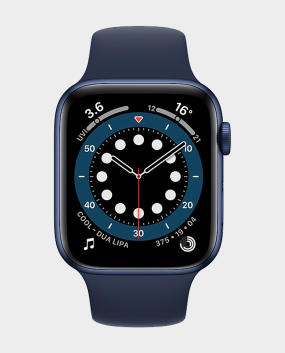 Apple Watch Series 6 M09A3A 44mm GPS + Cellular Blue Aluminum Case with Deep Navy Sport Band in Qatar