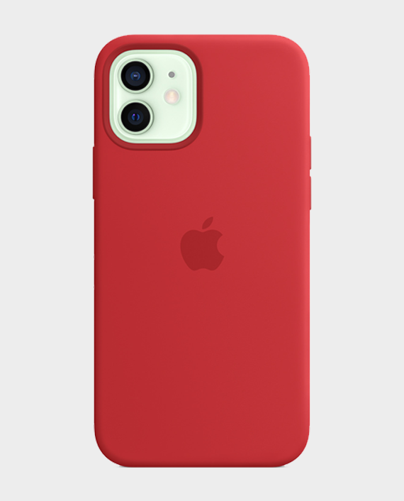 Apple iPhone 12/12 Pro MagSafe Silicone Case Red in Qatar