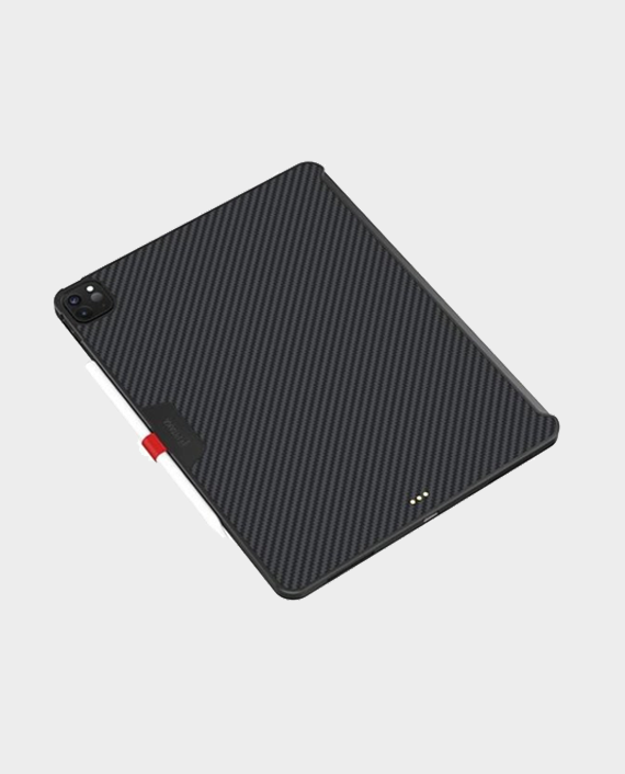 "Pitaka iPad Pro 11"" 2nd-Gen (2020) Aramid MagEZ Case Black/Grey Twill in Qatar"