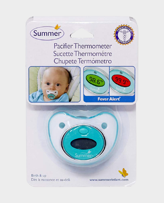 Summer Pacifier Thermometer Teal/White in Qatar