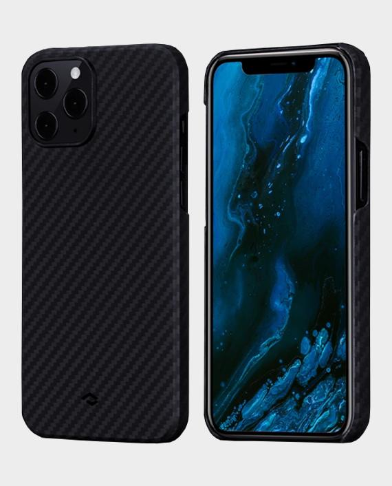 Pitaka iPhone 12 Pro Max MagEZ Case Black/Grey Twill in Qatar
