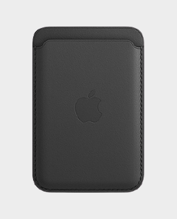 Apple MagSafe iPhone Leather Wallet Black in Qatar