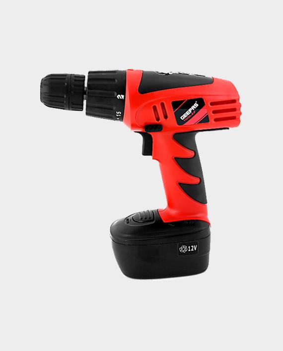 Geepas GCD7628 12V Cordless Drill - Red/Black in Qatar