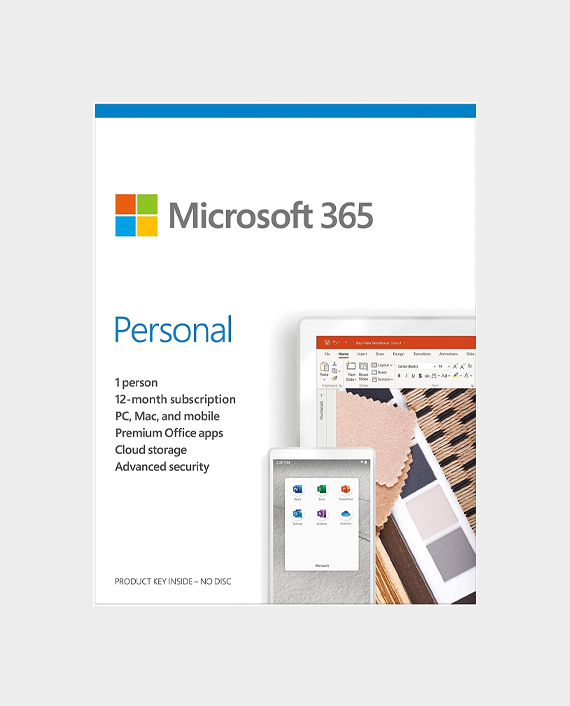 Microsoft 365 Personal Mac or Windows English Subscription Middle East Version 1 Year in Qatar